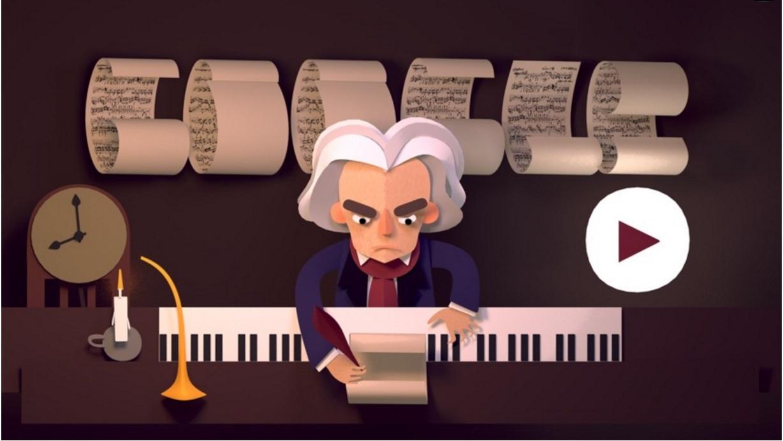 Beethoven: Google celebra la storia del genio della musica classica